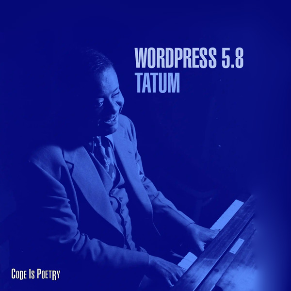 visual van WordPress 5.8 Tatum